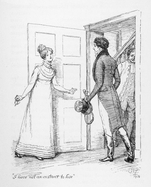 'I have not an instant to lose' says Elizabeth Bennet to Mr Darcy