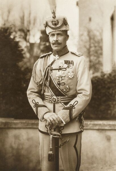 Prince William of Wied, Prince of Albania (Wilhelm Friedrich Heinrich) (1876 - 1945) reigned briefly as sovereign of Albania from March 7th, 1914 to September 3rd, 1914 when he left for exile. His reign officially came to an end on January 31