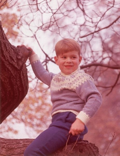 Prince Andrew (now Duke of York) climbing a tree at the age of six