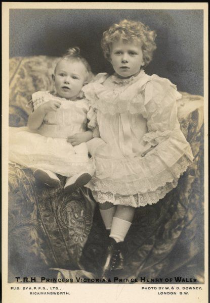 PRINCE HENRY later DUKE OF GLOUCESTER Son of George V, with his sister Princess Mary (given here as Victoria)