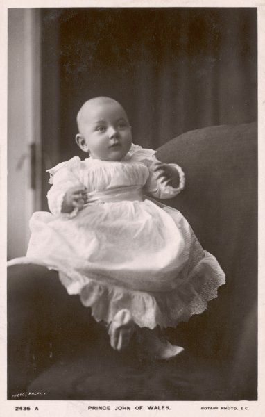 PRINCE JOHN The youngest son of George V, as a baby in 1906. Suffered from severe epilepsy throughout his short life