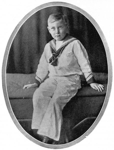 Prince John (1904-1919), fifth and youngest son of George V and Queen Mary. After developing epilepsy at the age of four, John was increasingly kept from the public eye and was cared for by his nurse, dying prematurely in 1919