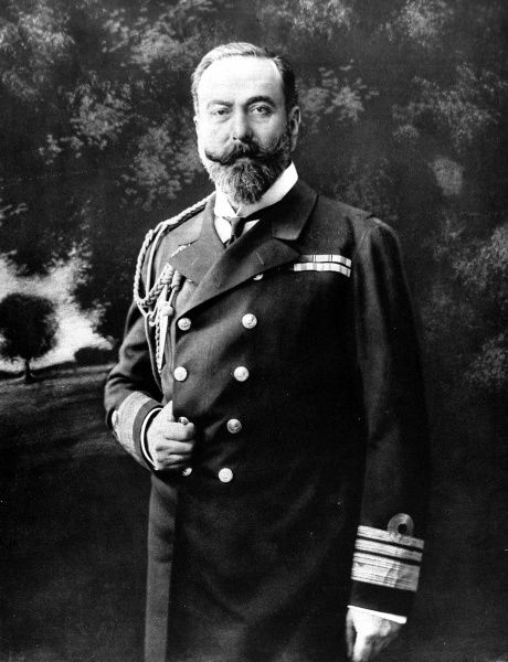 Prince Louis Alexander of Battenberg (1854-1921), photographed in 1912 on succeeding Sir Francis Bridgeman as First Sea Lord of the Admiralty