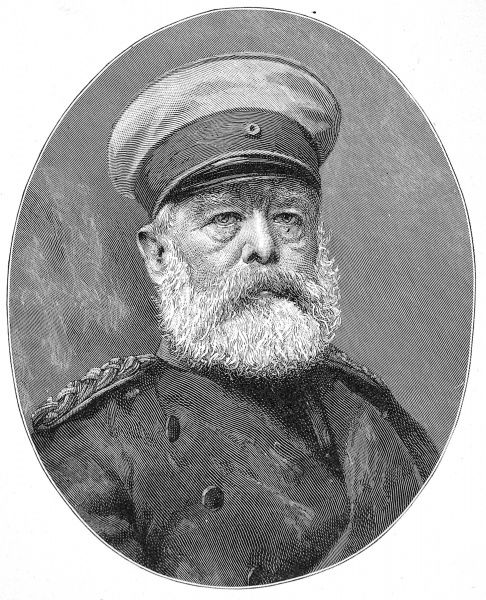Engraved portrait of Prince Otto Edward Leopold von Bismarck, Duke of Lauenburg (1815-1898), the Prusso-German statesman and first Chancellor of the German Empire, pictured c.1898