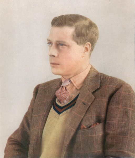Edward, Prince of Wales (1894-1972), later King Edward VIII and Duke of Windsor, photographed in colour (Finlay process) in 1930