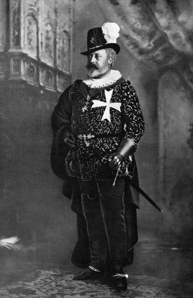 The Prince of Wales (the future Edward VII) as the Grand Master of the Knights Hospitallers of Malta