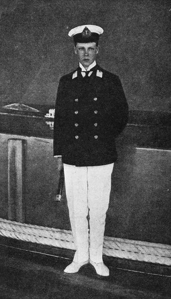 Photograph of the Prince of Wales, later Edward VIII,who spent a few months in the navy under the care of Captain Henry Hervey Campbell and took part in the manoevres of the Home Fleet in Lamlash Bay, Arran