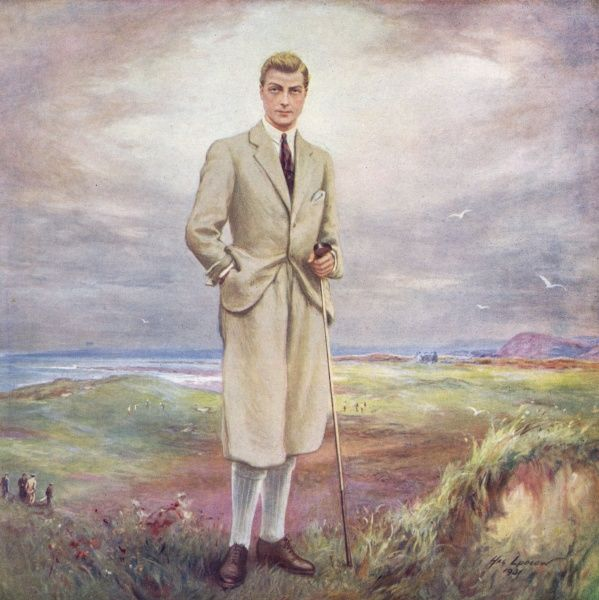 Prince of Wales (1894 - 1971), later King Edward VIII and Duke of Windsor, pictured standing near the seventeenth hole on the links at Porthcawl Golf Club. Date: 1931