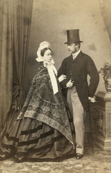 Princess Alice (1843-1878), third child and second daughter of Queen Victoria and Prince Albert pictured here around the time of her marriage with her husband Grand Duke Louis IV of Hesse-Darmstadt