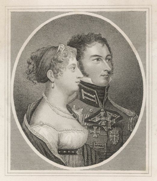PRINCESS CHARLOTTE - Princess of Wales and daughter of King George IV with Prince Leopold of Cobourg