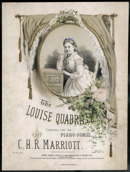 PRINCESS LOUISE Depicted on a music sheet, circa 1880