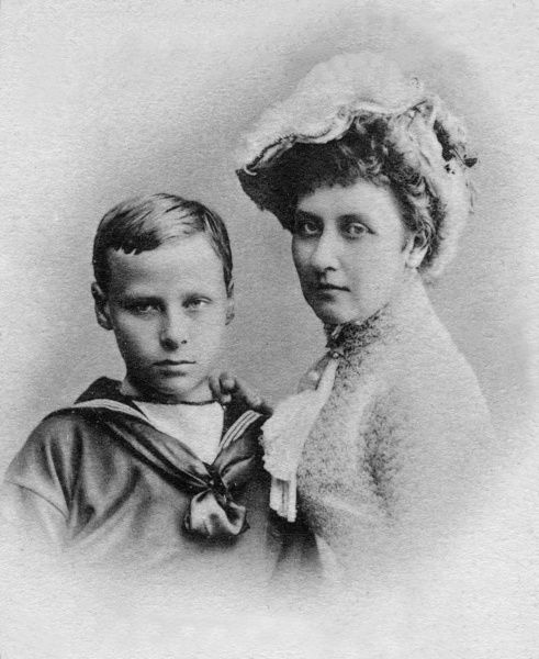 Hereditary Grand Duke Ernst Ludwig of Hesse-Darmstadt (1868-1937) with his aunt, Princess Louise, Duchess of Argyll (1848-1939) in 1881