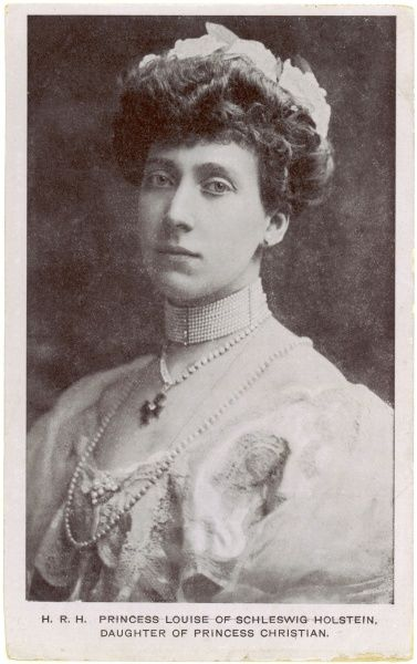 PRINCESS MARIE-LOUISE Princess Marie Louise of Schleswig Holstein, younger daughter of Princess Helena and Prince Christian, granddaughter of Victoria. Date: 1872 - 1956