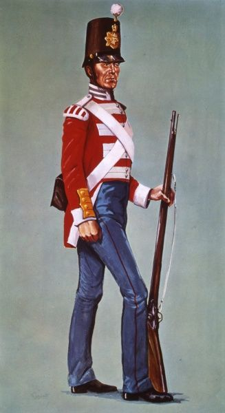Private of the 18th Regiment of Foot - The Leicestershire Regiment (later to become the Royal Leicestershire Regiment)