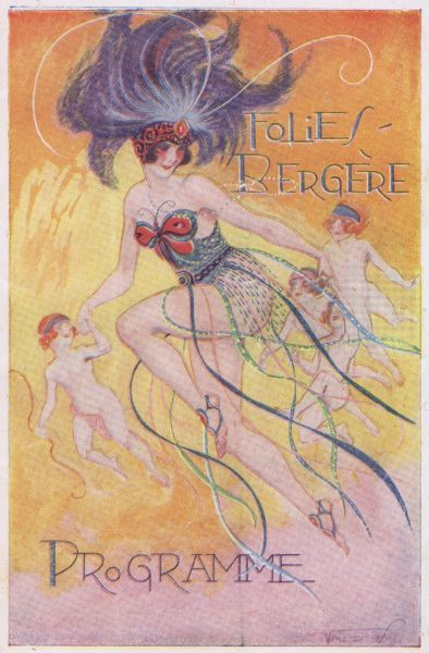 Programme cover for the Folies Bergere, Paris, 1921-1923 1920