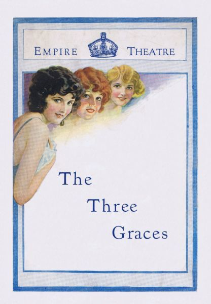 Programme cover for The Three Graces, staged at the Empire Theatre, London, 1924 Date: 1924