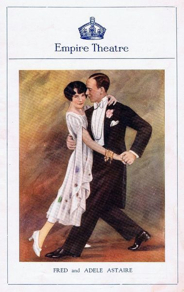 Programme cover for Lady Be Good, staged at the Empire Theatre, London, starring Fred and Adele Astaire, 1926 Date: 1926