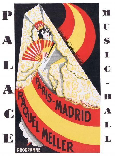Programme cover for Paris - Madrid starring Raquel Meller at the Palace Theatre, Paris 1929