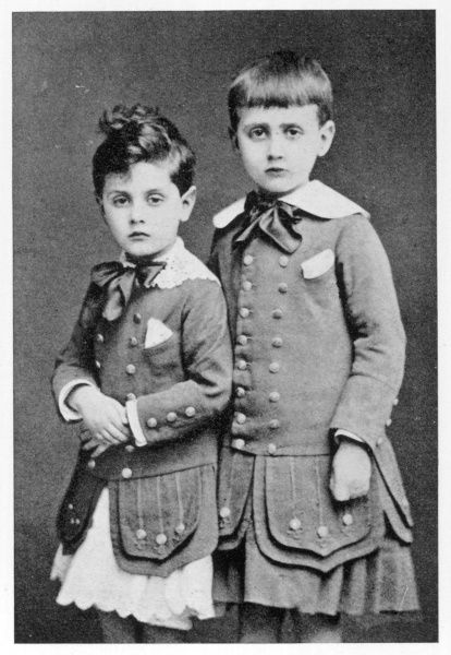MARCEL PROUST (on right) with his brother ROBERT