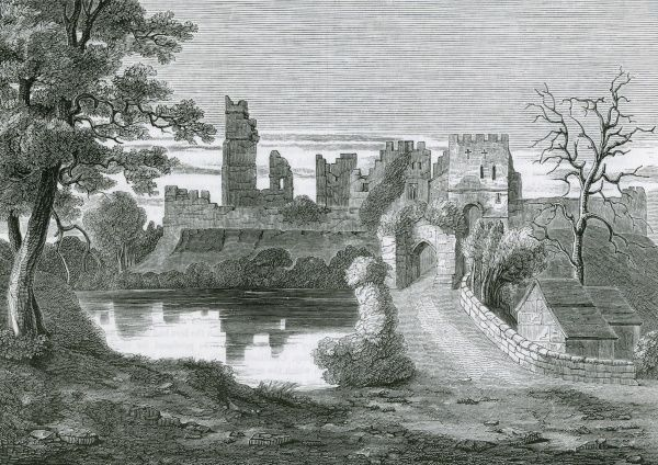 The ruins of Prudhoe Castle, Northumberland Date: 1845