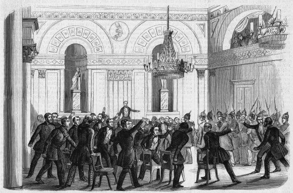 In consequence of the political disturbances, the Nationalversammlung (Prussian National Assembly) is suspended