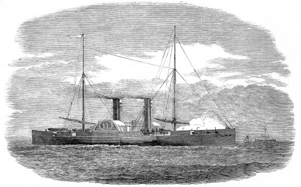 Engraving of the Prussian War-Steamer 'Nix', built by Robinson and Russell of Millwall, London, 1851