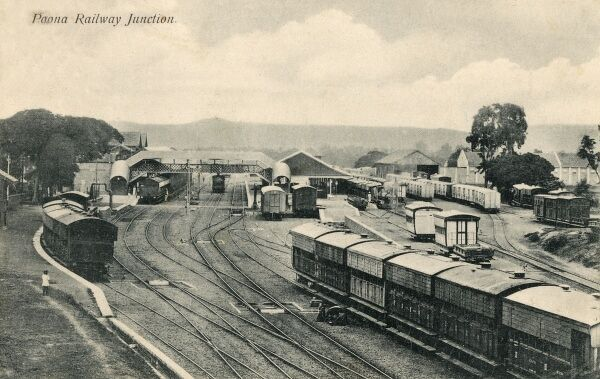 Pune (Poona) India - The Railway Junction Date: circa 1907