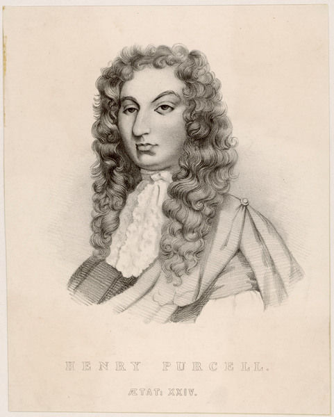 HENRY PURCELL the English composer at the age of 24