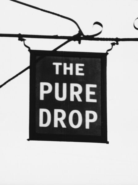 'The Pure Drop' inn at Wareham, Dorset, England. This curiously named inn has no sentimental or traditional history other than having a pure brew made in-house