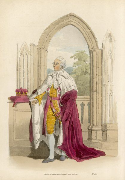 A BARON IN HIS CORONATION ROBES - Though he is the lowest of peers, he is still superior to you and me, and specially when togged up for a coronation ceremony