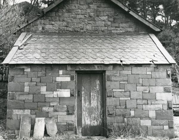 A quarrymen's shed at Dinorwig (or Dinorwic) Slate Quarry, near Llanberis, North Wales, showing drystone construction and superb workmanship in walls and roofing