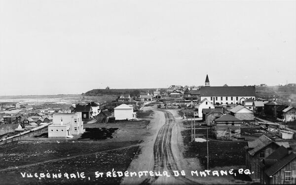 Quebec, Canada - General view of the town of Matane. The town is on the Gasp Peninsula on the south shore of the Saint Lawrence River at the mouth of the Matane River. The city is the seat for the Matane Regional County Municipality