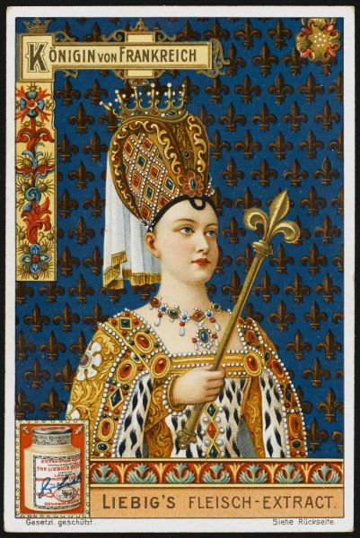 THE QUEEN OF FRANCE (Isabeau de Baviere, queen of Charles VI) 5 in series of 6