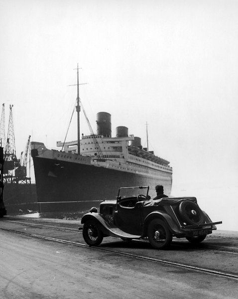 The Cunard White Star liner at Southampton, England
