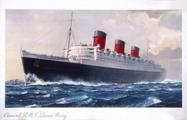 Poster by Turner of the Cunard liner, the Queen Mary