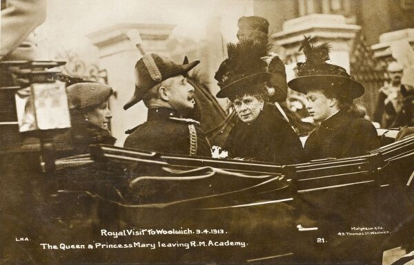 A lovely photographic postcard depicting a Royal visit to Woolwich in April 1913