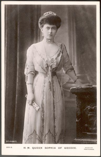 QUEEN SOPHIA OF GREECE Wife of Constantine I (they married in 1889), daughter of Friedrich II, Emperor of Germany and Victoria Princess Royal