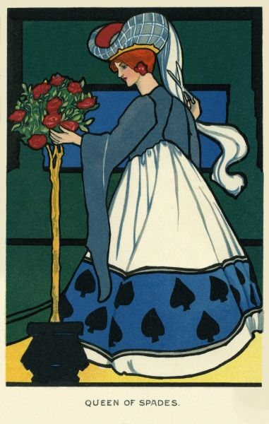 Queen of Spades. Illustrator Anon. Date: 1904
