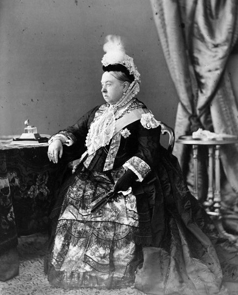 Photographic portrait of Queen Victoria (1819-1901) of Great Britain and Ireland and Empress of India, pictured in 1887, probably on the Isle of Wight