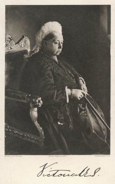 QUEEN VICTORIA Portrait from 1896