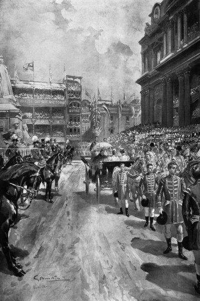 The Diamond Jubilee service of thanksgiving outside St Paul's Cathedral, 22nd June 1897