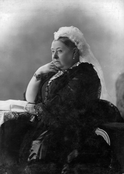 Photographic portrait of Queen Victoria (1819-1901) of Great Britain and Ireland and Empress of India, pictured at Osbourne House, 1887
