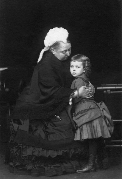 Queen Victoria photographed with her granddaughter, Princess Margaret ('Daisy') of Connaught (1882-1920), later Crown Princess of Sweden