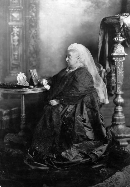 Photographic portrait of Queen Victoria (1819-1901) of Great Britain and Ireland and Empress of India, pictured at Windsor Castle, May 1897