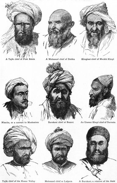 People from different regions of Afghanistan Date