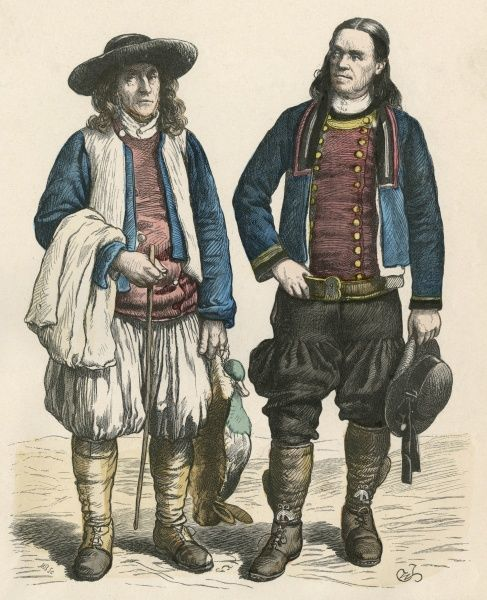 Two Breton men in traditional costume Date: late 19th century