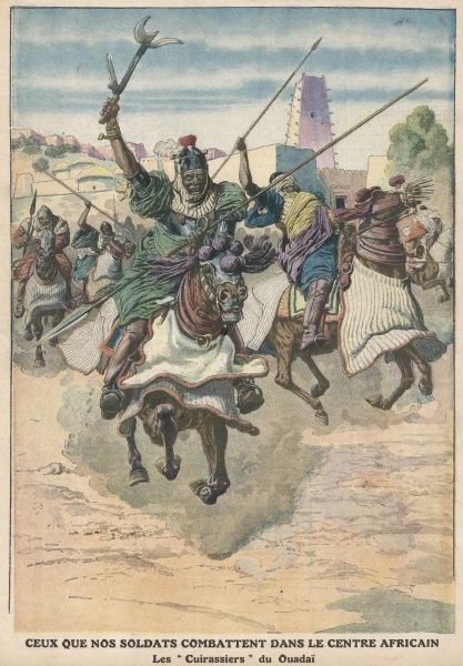 Warriors of Ouadda (now in Central African Republic) as encountered by the French