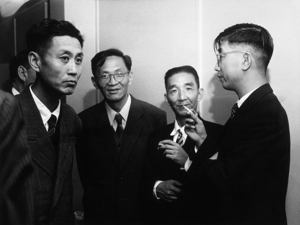 Chinese professors visiting London for a conference Date: circa 1950s