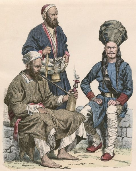 Two men from the Himalayas, and a soldier of the Maharanah Date: 19th century