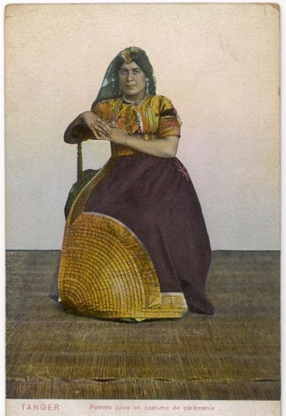 A Jewish lady in ceremonial dress, Tangier (Morocco)